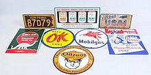 Lot of Assorted Porcelain Automotive Advertising.