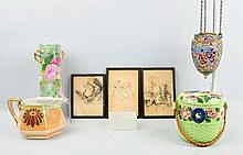 Lot of 6: Decorated Pieces.