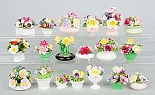 Lot of 15 Plus: Bone China Floral Bouquets.