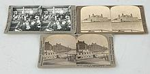Lot of 3: Stereoviews Ellis Island.
