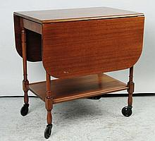 Wooden Drop Leaf Table Serving Cart.