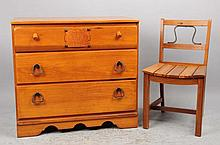 Hopalong Cassidy Dresser & Chair.