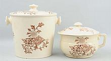 Lot of 2: Decorated Pottery Pieces.