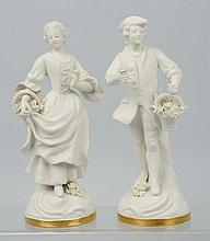 Pair of French Porcelain Figurines.