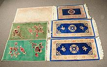Lot of 6: Oriental Throw Rugs.