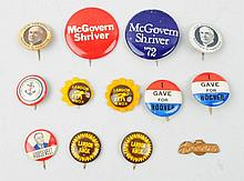 Lot of 20th Century Political Buttons.