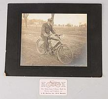 Lot of 2: Early Motorcycle Items.
