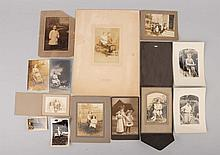 Lot of 13: Photos Children with Toys.