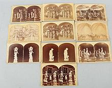 Lot of 10: 1876 Centennial Expo Stereoviews.