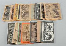 Lot of 18: Pre WWI Military Stereoviews.