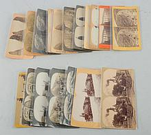 Lot of 18: Railroad Related Stereoviews.