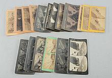 Lot of 19: Railway Related Stereoviews.