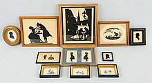Large Lot of SilhouetteFramed Pictures.