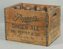 Case of Pepper Soda Bottles.