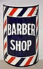 Barber Shop Porcelain Sign.