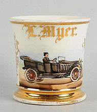 Open Air Automobile Shaving Mug.