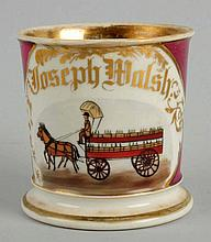 Horse Drawn Bottle Delivery Wagon Shaving Mug.