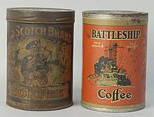 2 Advertising Coffee Tins.