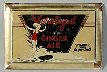 Tin Over Cardboard Vitalized Ginger Ale Sign.