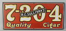 7-2-0-4 Quality Cigars Porcelain Sign.