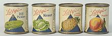 Lot of 4: Small LIbby's Fruit Cans.