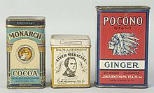 Lot of 3: Small Assorted Tins.