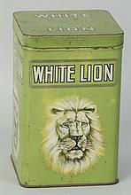 Green White Lion Tin.