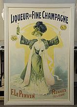 Liqueur De FIne Champagne French Poster.