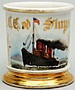 Four Stack Ocean Liner Shaving Mug.