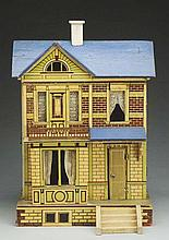Antique Blue Roof Doll House.