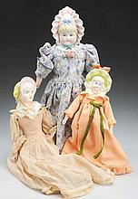 Lot of 3: Bonnet Head Dolls.