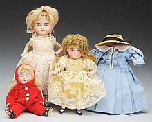 Lot of 3: All-Bisque Dolls.