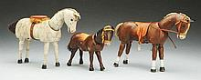 Lot of 3: Schoenhut Horses.