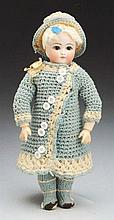 Splendid German Bisque Doll.