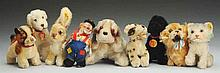 Lot of 9: Steiff Animals.
