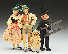 Lot of German Character Dolls.