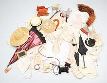 Lot of Antique Doll Clothing and Accessories.
