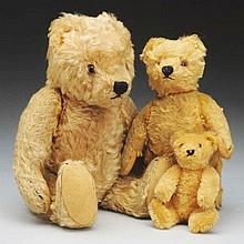 Lot of 3: Antique Mohair Bears.