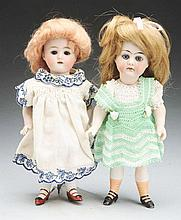 Lot of 2: All-Bisque Dolls.
