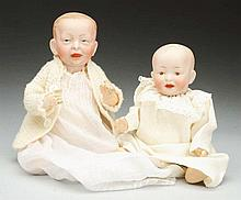 Lot of 2: Bisque Baby Dolls.