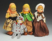 Lot of 4: Cloth Dolls.