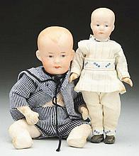 Lot of 2: German Bisque Dolls.