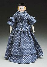 German China Doll with Molded Hat.