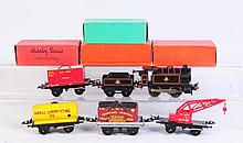 Hornby Locomotive & Tender with Freight Cars.