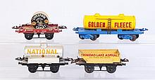 Lot of 4: Hornby Assorted Freight Cars.