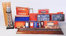 Lionel Assortment of Accessories & Marx Tower.