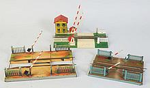 Lot of 3: 2 Marklin Crossing Gates & A Jep.