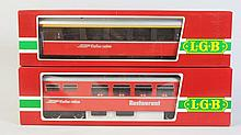 Lot of 2: LGB European Outline Passenger Cars.