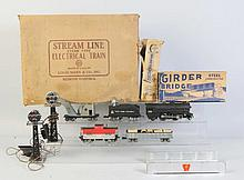 Marx Accessories & Train Set in Box.