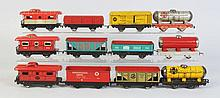 Lot of 12: Marx Freight Cars.